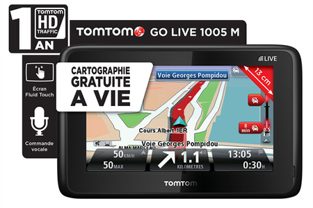 gps tomtom go live 1005m carte vie go live 1005 darty. Black Bedroom Furniture Sets. Home Design Ideas
