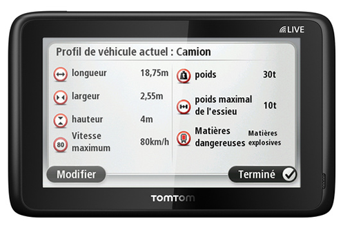 gps tomtom pro 5150 truck live carte vie pro 5150 truck live 3675815. Black Bedroom Furniture Sets. Home Design Ideas