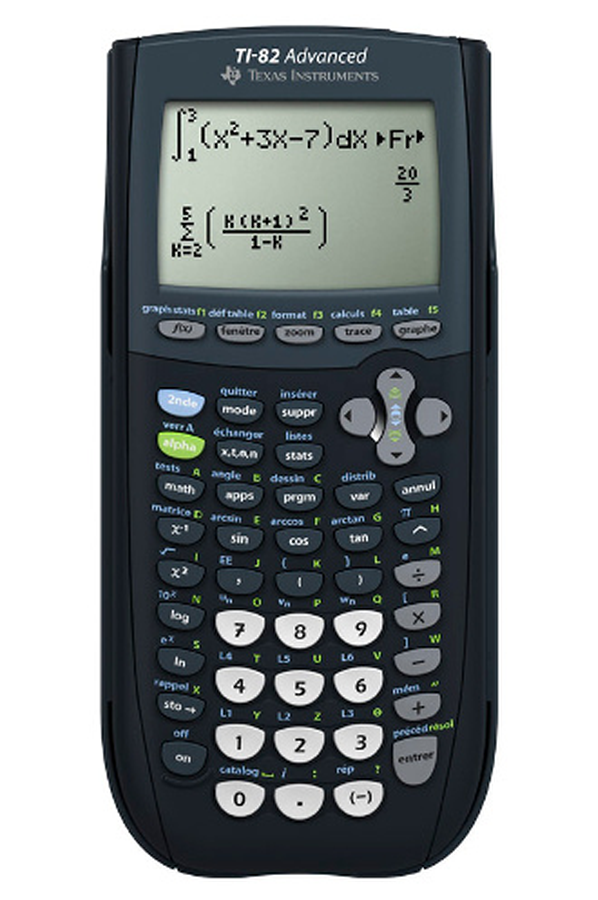 calculatrice graphique texas instruments ti 82 advanced. Black Bedroom Furniture Sets. Home Design Ideas