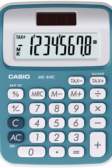 Calculatrice 4 opérations MS-6NC BLEU Casio