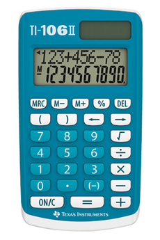 Calculatrice 4 opérations TI-106 II Texas Instruments