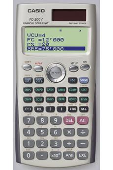 Calculatrice scientifique FC-200V Gris Casio