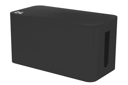 accessoire bureautique bluelounge boite de rangement de c bles noire darty. Black Bedroom Furniture Sets. Home Design Ideas
