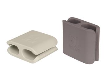 Accessoire bureautique CableClip rangement de câbles X2 Gris et vert Bluelounge