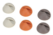 Bluelounge Fixation de câbles CableDrop X6 Blanc Gris Orange photo 1