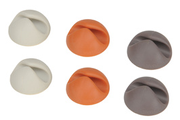 Bluelounge Fixation de câbles CableDrop X6 Blanc Gris Orange