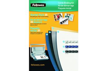 Accessoire bureautique Kit de reliure par anneaux pour 20 dossiers Fellowes