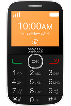 Mobile nu 20.04G Blanc SENIOR Alcatel