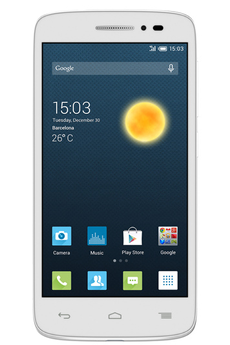 "Mobile nu POP 2 4.5"" BLANC Alcatel"