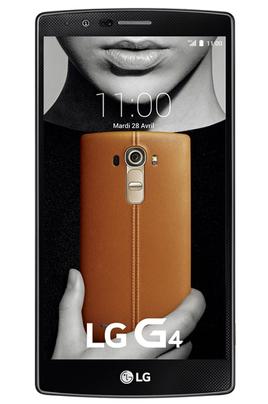 LG LG G4 Cuir marron Android 5.1 Lollipopecran 5.5 pcs Caméra 16 MP camera frontal 8 MP Batterie 300