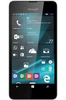 Mobile nu LUMIA 550 BLANC Microsoft