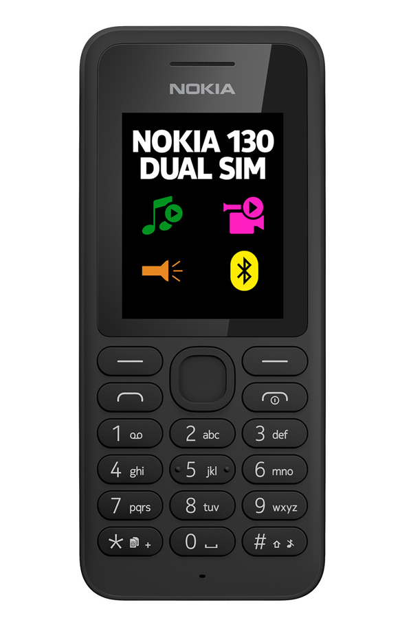 t l phone portable nokia 130 dual sim noir a00021117. Black Bedroom Furniture Sets. Home Design Ideas