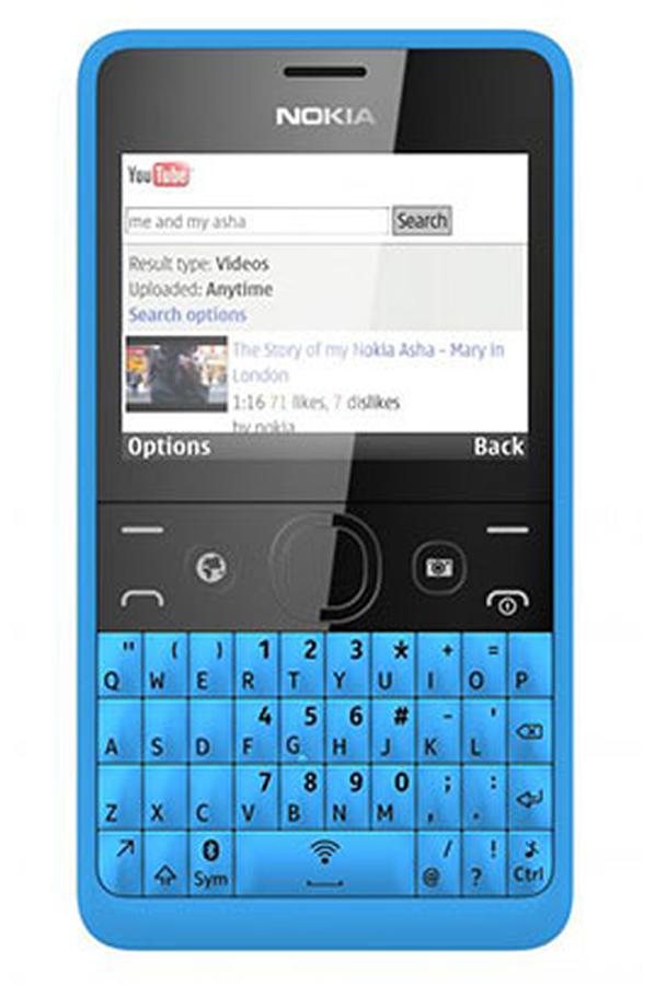 smartphone nokia asha 210 dual sim bleu 3782239 darty. Black Bedroom Furniture Sets. Home Design Ideas