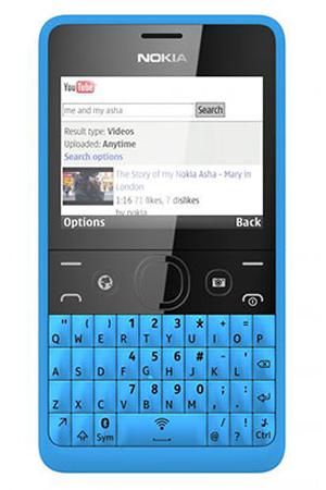 smartphone nokia asha 210 dual sim bleu darty. Black Bedroom Furniture Sets. Home Design Ideas