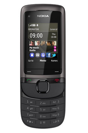 smartphone nokia c2 05 graphite darty. Black Bedroom Furniture Sets. Home Design Ideas