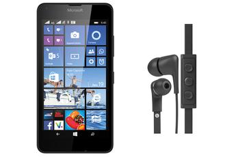 Mobile nu LUMIA 640 NOIR AVEC CASQUE INTRA-AURICULAIRE JAYS FIVE Nokia