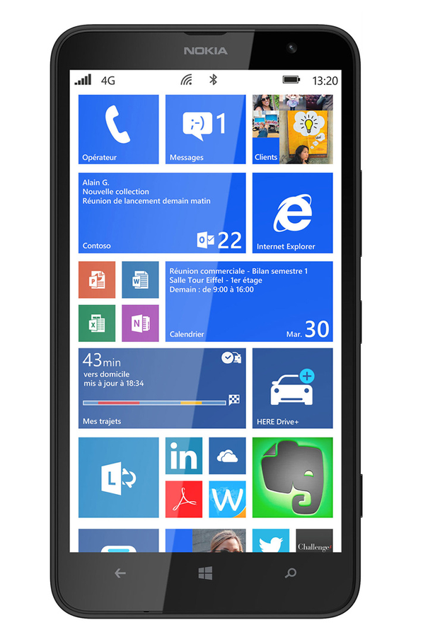 smartphone nokia lumia 1320 noir lumia 1320 noir 3849325 darty. Black Bedroom Furniture Sets. Home Design Ideas