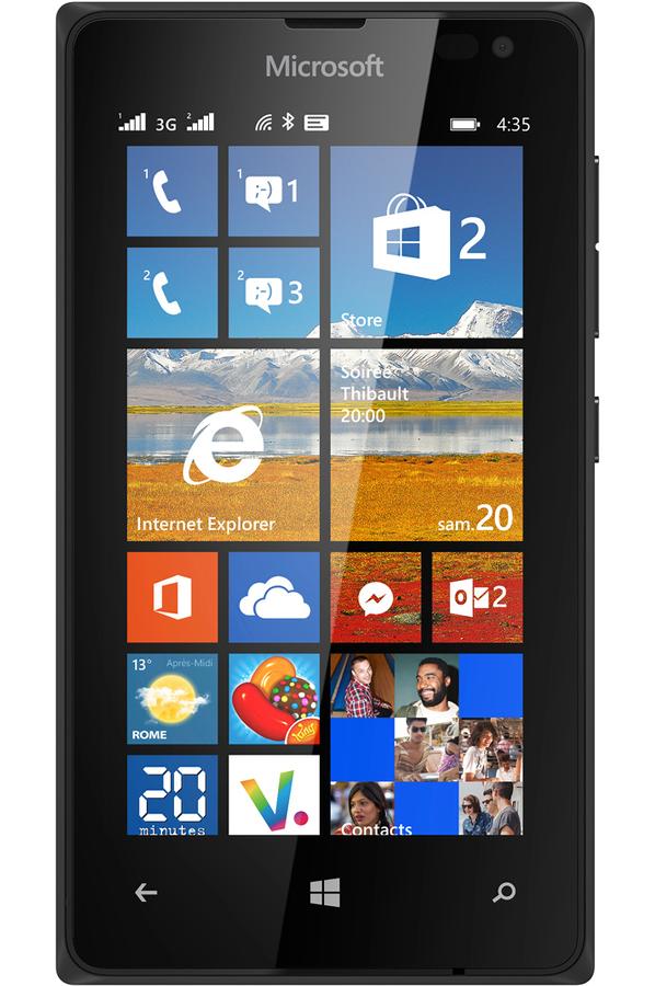 smartphone nokia lumia 435 dual sim noir 4085051 darty. Black Bedroom Furniture Sets. Home Design Ideas