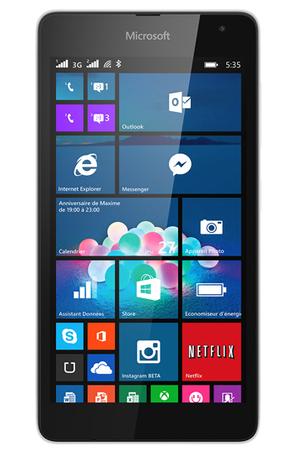 smartphone nokia lumia 535 blanc lumia 535 darty. Black Bedroom Furniture Sets. Home Design Ideas