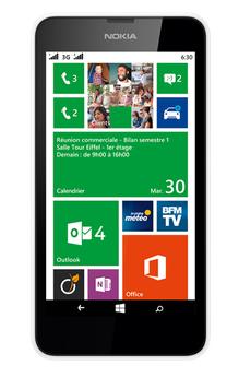 Smartphone LUMIA 630 BLANC Nokia