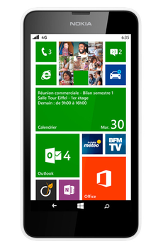 Mobile nu LUMIA 635 BLANC Nokia