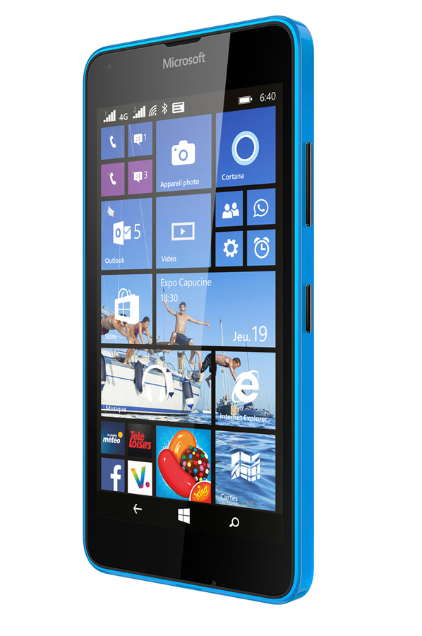 smartphone nokia lumia 640 dual sim bleu 4153910 darty. Black Bedroom Furniture Sets. Home Design Ideas