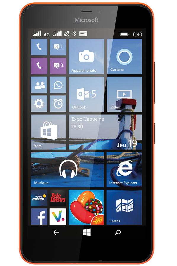 mobile nu nokia lumia 640 xl dual sim orange 4131835 darty. Black Bedroom Furniture Sets. Home Design Ideas