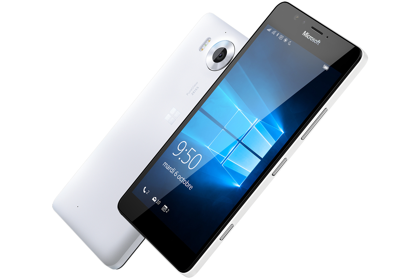 smartphone microsoft lumia 950 blanc darty. Black Bedroom Furniture Sets. Home Design Ideas