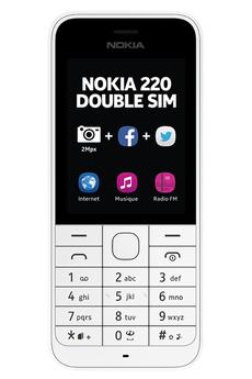 Mobile nu 220 dual sim blanc Nokia