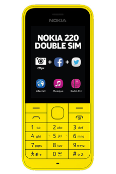 Mobile nu 220 dual sim jaune Nokia