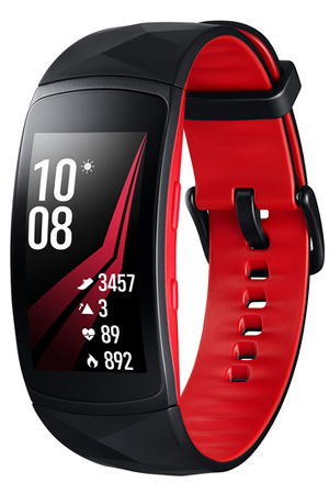 Gear Fit 2 Pro Large Noir Et Rouge
