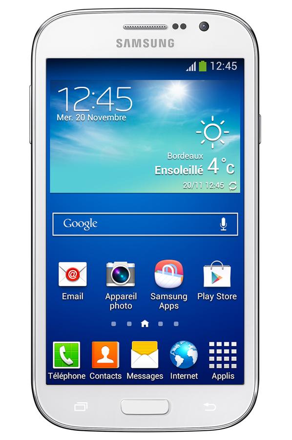 Smartphone samsung galaxy grand plus blanc 4077091 darty - Darty telephone portable samsung ...