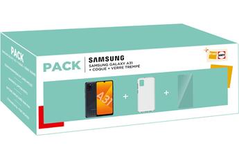 Smartphone Samsung PACK GALAXY A31 + Coque + Verre trempé