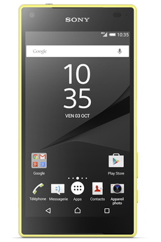 Mobile nu XPERIA Z5 COMPACT JAUNE Sony