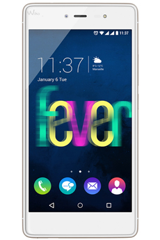 Mobile nu FEVER BLANC/OR Wiko