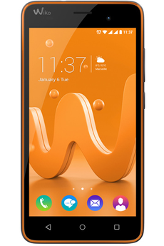 Mobile nu JERRY DUAL SIM ORANGE ET GRIS Wiko
