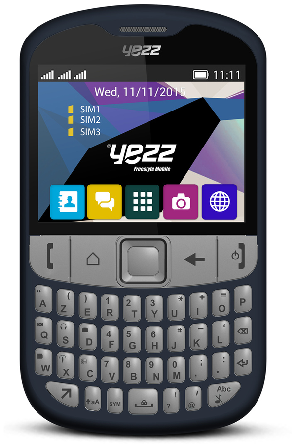 smartphone yezz f10 azerty bleu triple sim upyef10b. Black Bedroom Furniture Sets. Home Design Ideas