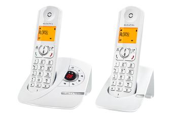 Téléphone sans fil F370 VOICE DUO BLANC Alcatel