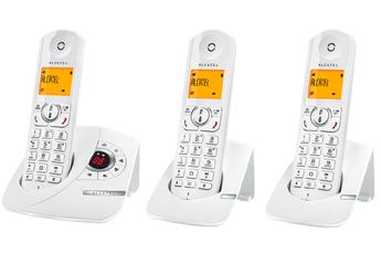 Téléphone sans fil F370 VOICE TRIO BLANC Alcatel