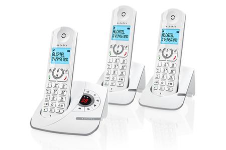 6fb6a35def42b8 Téléphone sans fil Alcatel F390 Voice Trio Gris   Darty