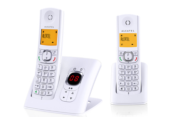 Téléphone sans fil F 570 VOICE DUO BLANC Alcatel