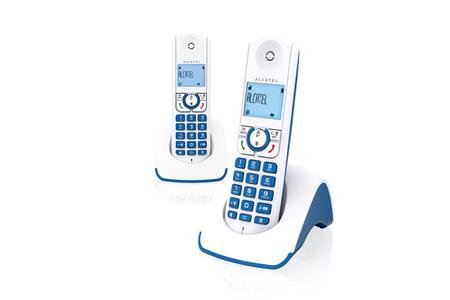 t l phone sans fil alcatel f 330 s duo bleu darty. Black Bedroom Furniture Sets. Home Design Ideas
