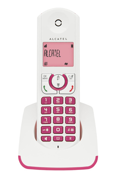 Téléphone sans fil F 330 S Solo Fuchsia Alcatel