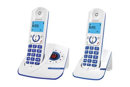 t l phone sans fil alcatel f 330 voice duo blue darty. Black Bedroom Furniture Sets. Home Design Ideas