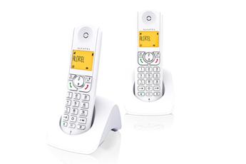 Téléphone sans fil F 370 S Duo Blanc Alcatel