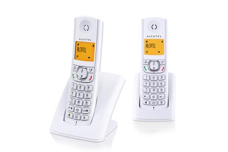 t l phone sans fil alcatel f 570 duo blanc darty. Black Bedroom Furniture Sets. Home Design Ideas