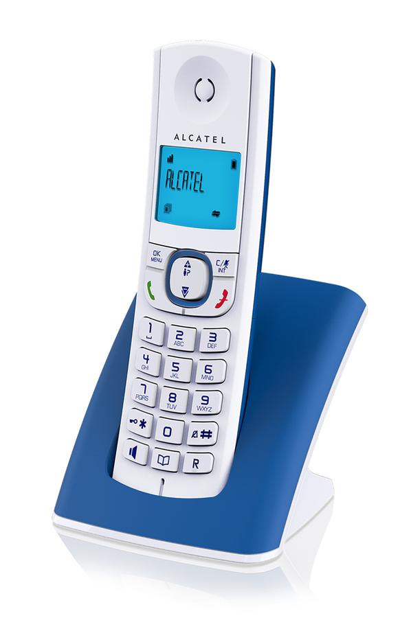 T l phone sans fil alcatel f 570 solo bleu 4256247 darty for Telephone interieur sans fil