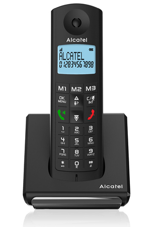 t l phone sans fil alcatel f 690 solo noir atl1417494 darty
