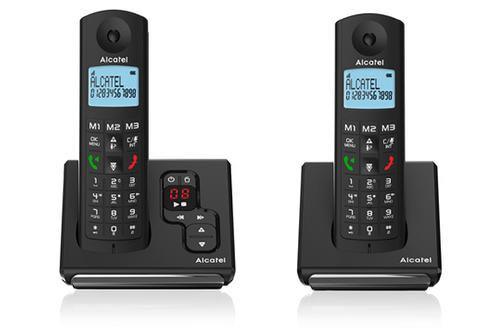 Téléphone sans fil F 690 Voice Duo Noir Alcatel
