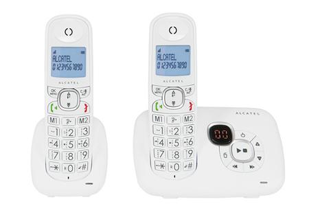 t l phone sans fil alcatel xl 375 voice duo blanc xl 375 voice darty. Black Bedroom Furniture Sets. Home Design Ideas